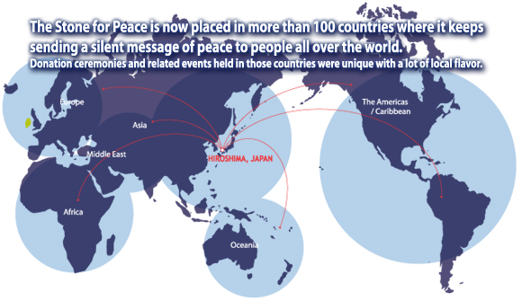 Stone for peace countries whith have accepted the stone for peace worldmap gumiabroncs Image collections